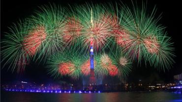 Fireworks Ostankinskaya Tower 1